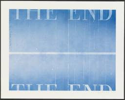 THE END #40 2003 by Edward Ruscha born 1937